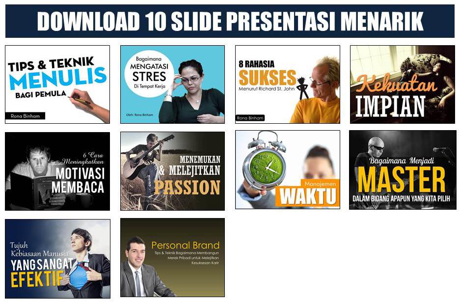 Download slide menarik dengan tampilan visual menggugah