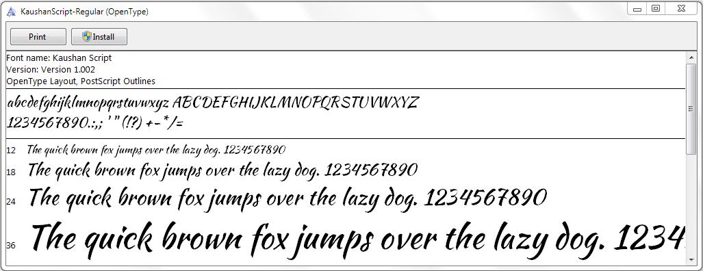 Menginstal Font