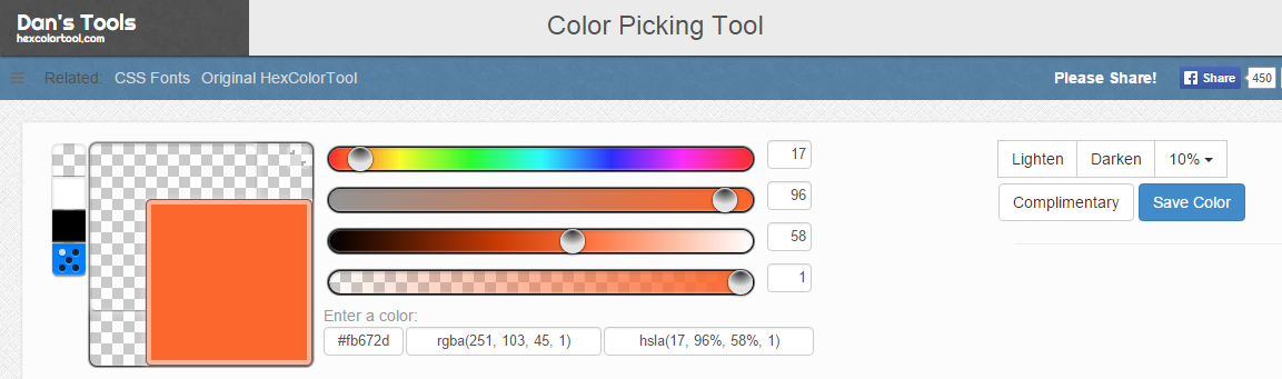 color picking tool