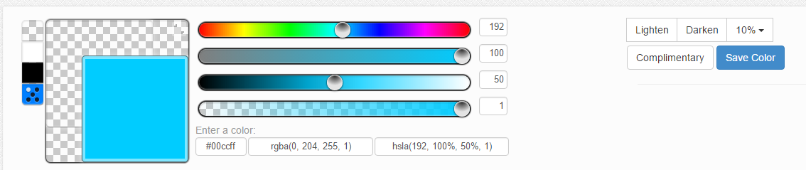 masukkan kode warna