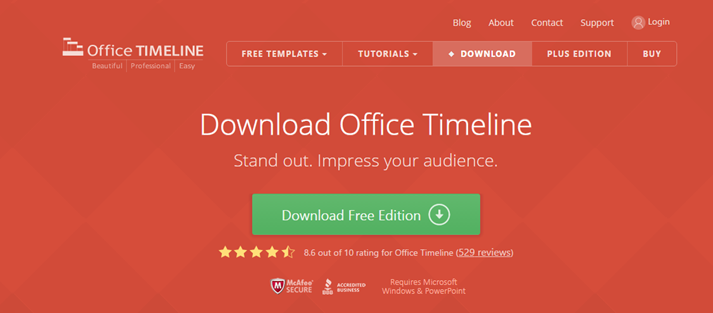 office timeline download