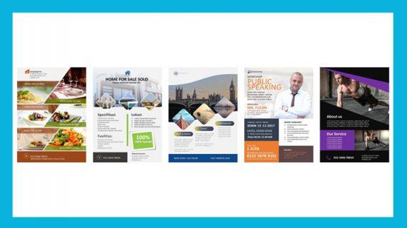 Gratis 5 Template Desain Flyer Untuk Desain Promosi Anda