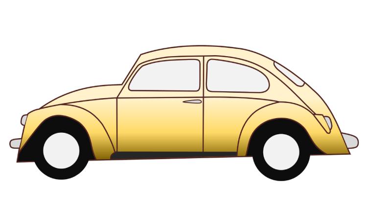 cara membuat vector mobil di powerpoint